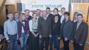 FW Wielenbach mit Hubert Aiwanger