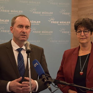 Hubert Aiwanger und Susann Enders